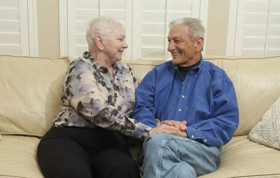 GARY FOUNTAIN CARING FOR EACH OTHER: Lynn and Jim Hale have been married for 32 years. The couple, who were both divorced when they met, had seven children from previous marriages. Photo: Gary Fountain / Copyright 2011 Gary Fountain