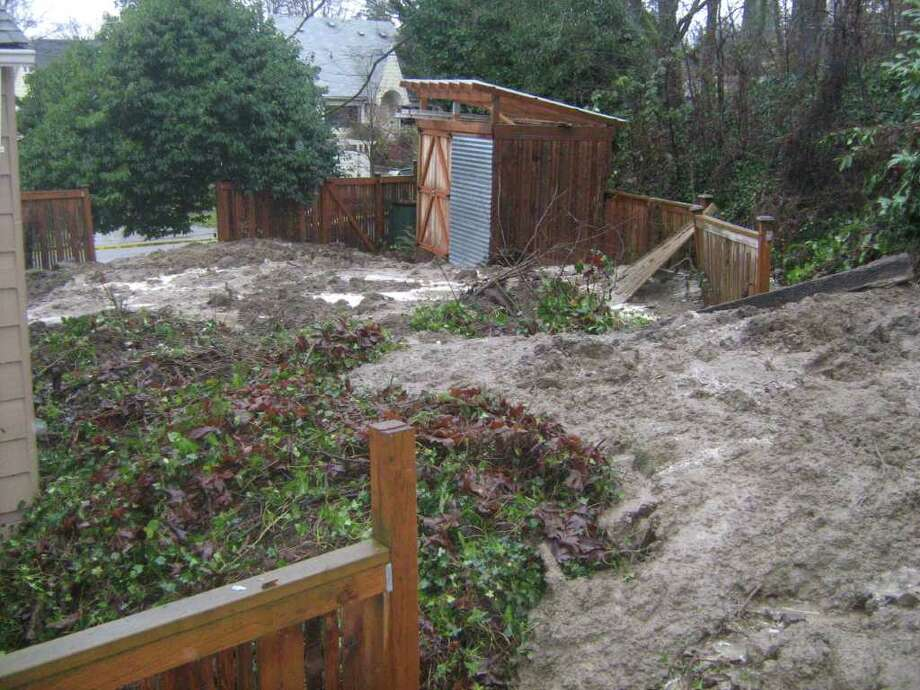 A previous landslide in the Central Area Photo: Seattle Department Of Planning And Development