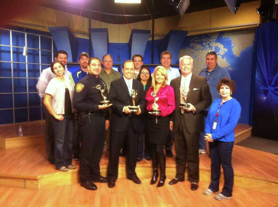 Officer Marcus Trujillo, Mark Austin, Leslie Mouton, Mike Osterhage and rest of KSAT's award-winning morning team.