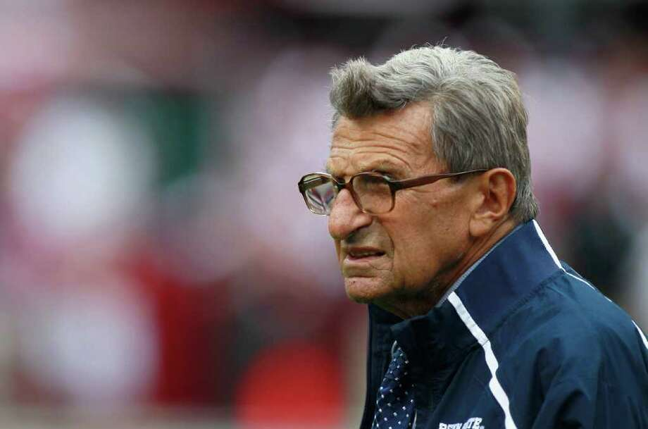 In November 2011, a massive college football scandal erupted when former Penn State defensive coordinator Jerry Sandusky was arrested on 40 counts of sexual abuse. The investigation revealed that head coach Joe Paterno was told that Sandusky abused a young boy on Penn State grounds in 2002, but failed to report the abuse to police. Just days later, Paterno was fired by the Penn State board of trustees. He had coached the team for 45 years.   The scale and horrific nature of the crimes, combined with Paterno's status as a college football legend, makes the Penn State scandal one of the most shocking in sports history. Do any others compare? Read on to relive some of the biggest sports scandals of all time. Photo: Kevin C. Cox, Getty Images / 2010 Getty Images