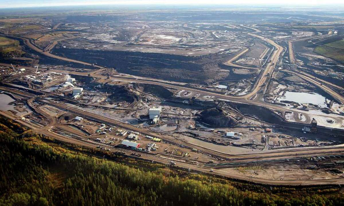 This Sept. 19, 2011 aerial photo shows a tar sands mine facility near Fort McMurray, in Alberta, Canada. Environmentalists hoping to block a proposed underground oil pipeline that would snake 1,700 miles from Canada to the Gulf of Mexico have pinned their hopes on an unlikely ally _ the conservative state of Nebraska where opposition to Keystone XL pipeline has risen steadily since the project was proposed three years ago. Public hearings will start Sept. 27, in Lincoln on the 16-inch steel pipe that if built would carry oil extracted from tar sands in Alberta, Canada, through Montana, South Dakota, Nebraska, Kansas and Oklahoma to refineries in Texas.