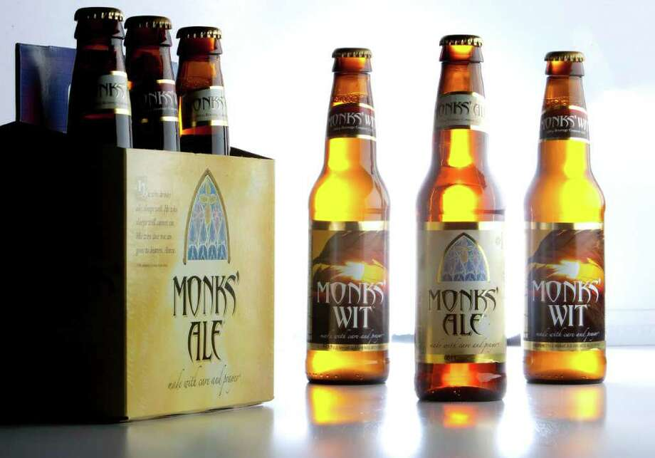 Abbey Beverage Company's Monks' Ale and Monks' Wit photographed in the Chronicle studio Thursday, Nov. 3, 2011, in Houston. ( Johnny Hanson / Houston Chronicle ) Photo: Johnny Hanson / © 2011 Houston Chronicle