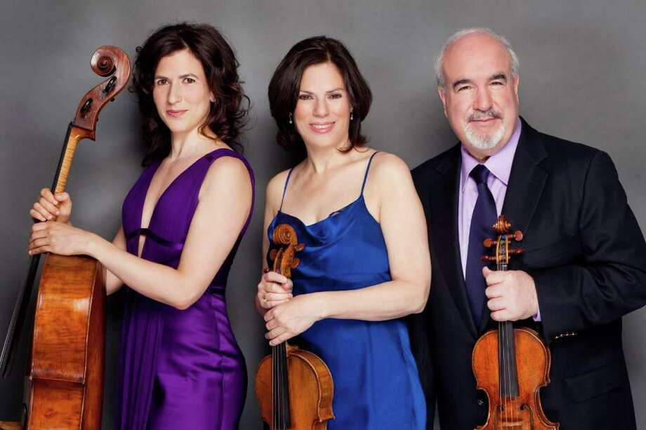 Inbal Segev, Karen Dreyfus and Glenn Dicterow, members of The Amerigo Trio, will perform Nov. 19 at Pequot Library. Photo: Contributed Photo/Chris Lee