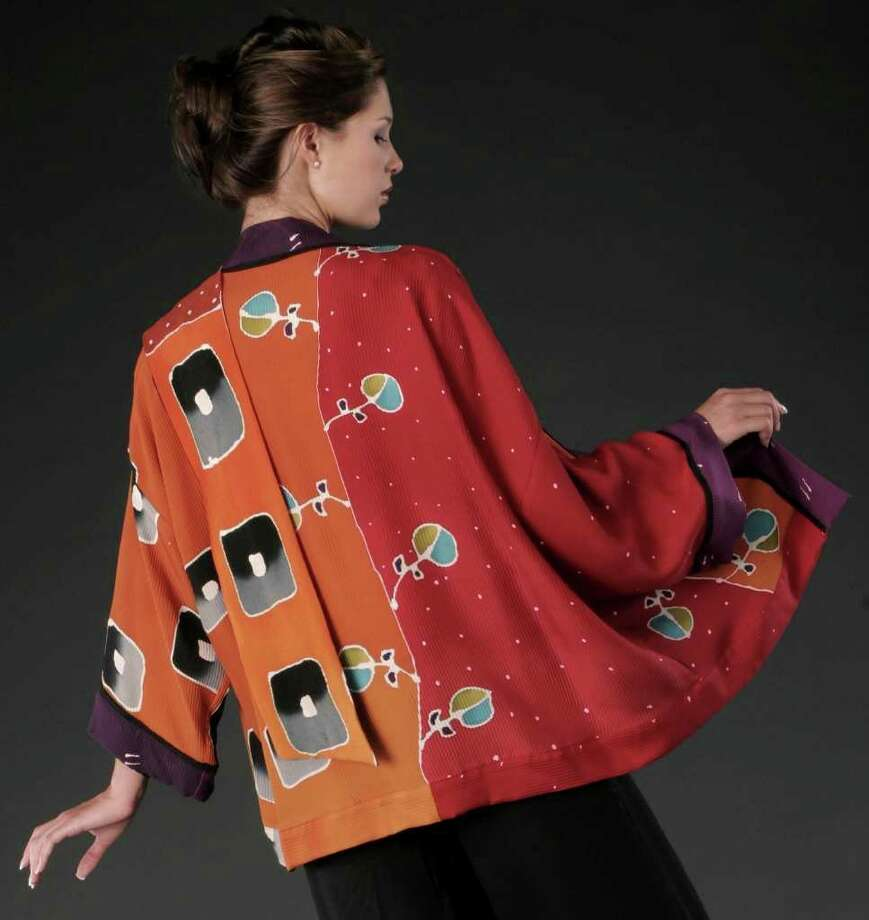 The jacket above, by artist Shekina Rudoy, will be among the items featured at CraftWestport Nov. 19-20, Saturday and Sunday, at Staples High School. Photo: Contributed Photo
