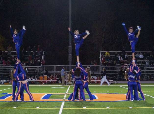 Off-field action during the Danbury vs Greenwich football game at Danbury High School on Thursday, Nov. 10, 2011. Photo: Jason Rearick / The News-Times
