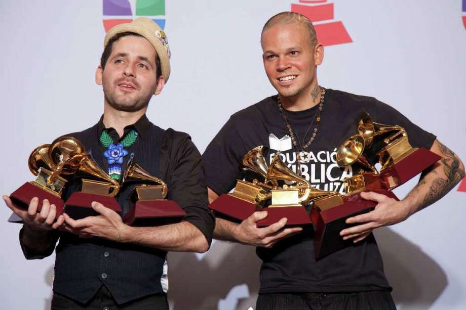 >Calle 13 won album of the year, and other trophies, at the Latin Grammy Awards in Vegas on Thursday. Photo: ADRIAN SANCHEZ-GONZALEZ, Getty / AFP