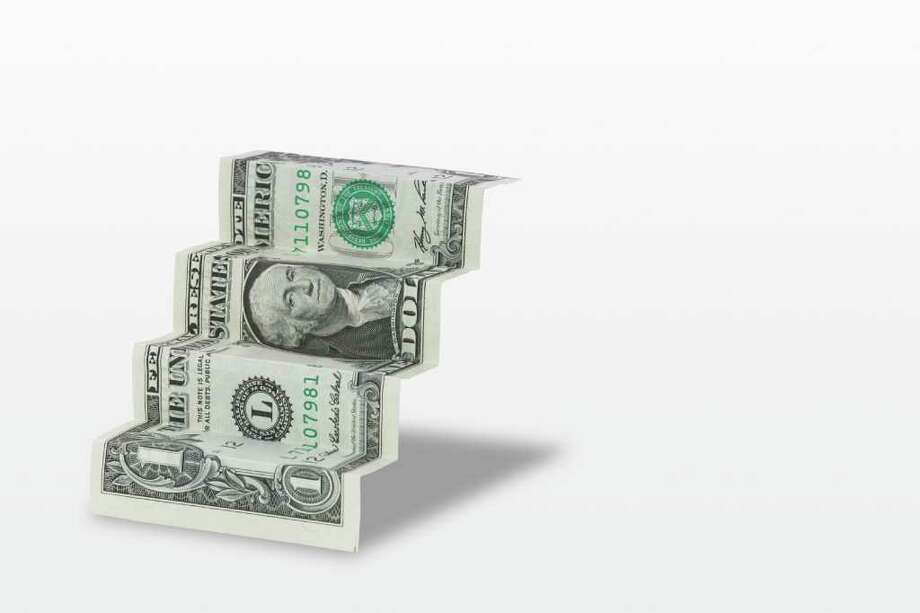 Money steps. money. ladder. fotolia  ONE DOLLAR BILL; FOLDED DOLLAR BILL Photo: Aaron Chen / handout / stock agency