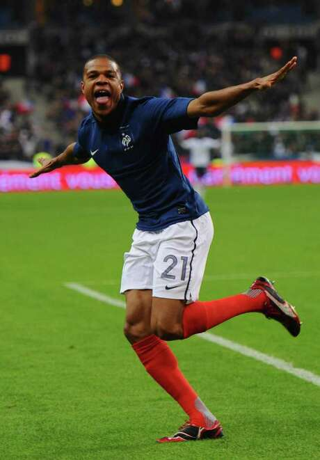 MIKE HEWITT : GETTY FLYING HIGH: Loic Remy of France had the only goal in a win over the U.S. Photo: Mike Hewitt / 2011 Getty Images