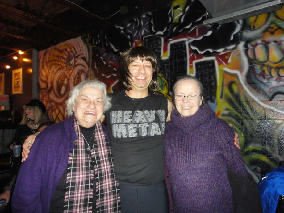 Margaret Ryan, Nigel Tufnel  and Thomasina Hinman were Seen at the Spinal Tap tribute concert to benefit the Chris Ryan Art Scholarship on Friday, Nov. 11, at Valentine's in Albany? Photo: Sarah Hinman Ryan