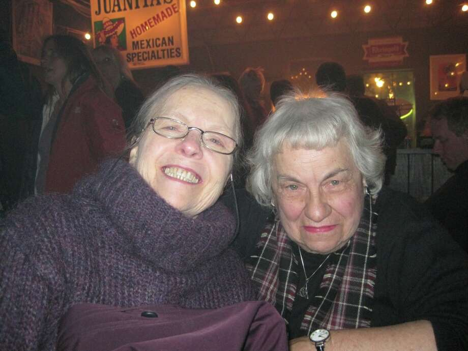 Thomasina Hinman and Margaret Ryan were Seen at the Spinal Tap tribute concert to benefit the Chris Ryan Art Scholarship on Friday, Nov. 11, at Valentine's in Albany? Photo: Sarah Hinman Ryan