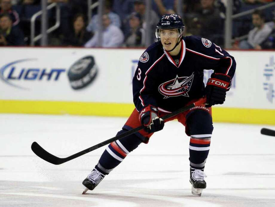 COLUMBUS, OH - OCTOBER 07:  Cam Atkinson #13 of the Columbus Blue Jackets skates against the Nashville Predators during the game at Nationwide Arena on October 7, 2011 in Columbus, Ohio.  (Photo by Justin K. Aller/Getty Images) Photo: Justin K. Aller, Getty Images / 2011 Getty Images