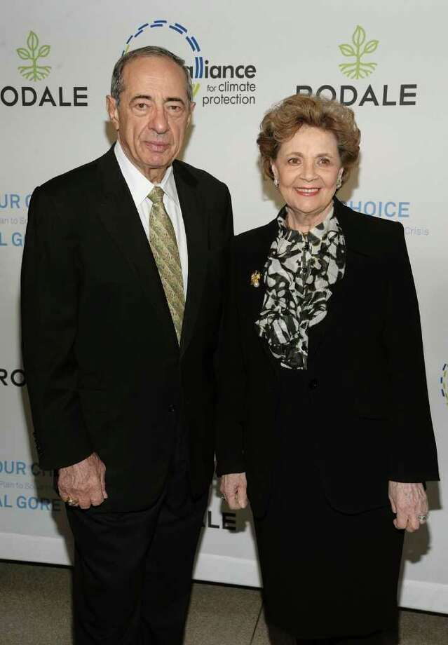 Former Gov. Mario Cuomo and  Matilda Cuomo in a 2009 archive photo. (Archive/Getty Images for Rodale) Photo: Dimitrios Kambouris / 2009 Getty Images