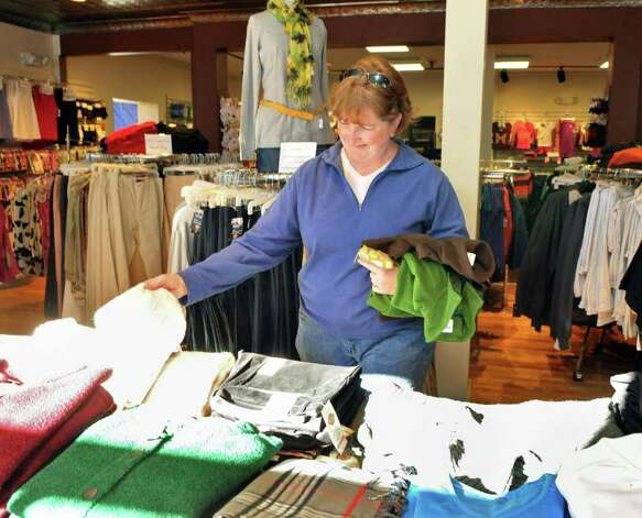 Nina Derby of Saranac Lake shops at The Community Store in Saranac Lake Wednesday Nov. 9, 2011.   (John Carl D'Annibale / Times Union) Photo: John Carl D'Annibale / 00015320A