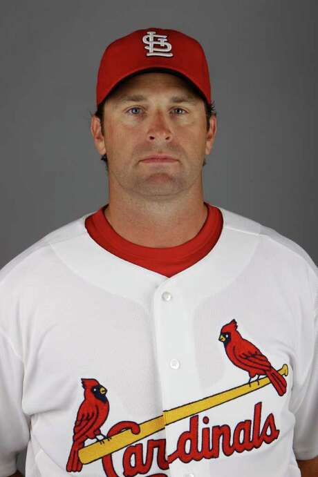 This is a 2011 photo of Mike Matheny of the St. Louis Cardinals baseball team.  The Cardinals  have called a news conference Sunday Nov. 13, 2011 to announce the hiring of Matheny as manager. (AP Photo/Jeff Roberson) Photo: Jeff Roberson / AP2011