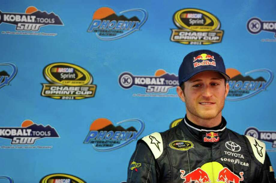 AVONDALE, AZ - NOVEMBER 13:  Kasey Kahne, driver of the #4 Red Bull Toyota, speaks during a press conference following his win in the NASCAR Sprint Cup Series Kobalt Tools 500 at Phoenix International Raceway on November 13, 2011 in Avondale, Arizona.  (Photo by Rainier Ehrhardt/Getty Images for NASCAR) Photo: Rainier Ehrhardt / 2011 Getty Images