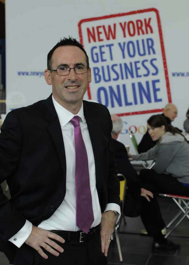 Sean Downey, National Sales Director, Display for Google and a Burnt Hills native is in attendance at the Google business seminar held at the RPI EMPAC building in Troy, N.Y. November 14, 2011.   (Skip Dickstein/Times Union) Photo: Skip Dickstein / 2011