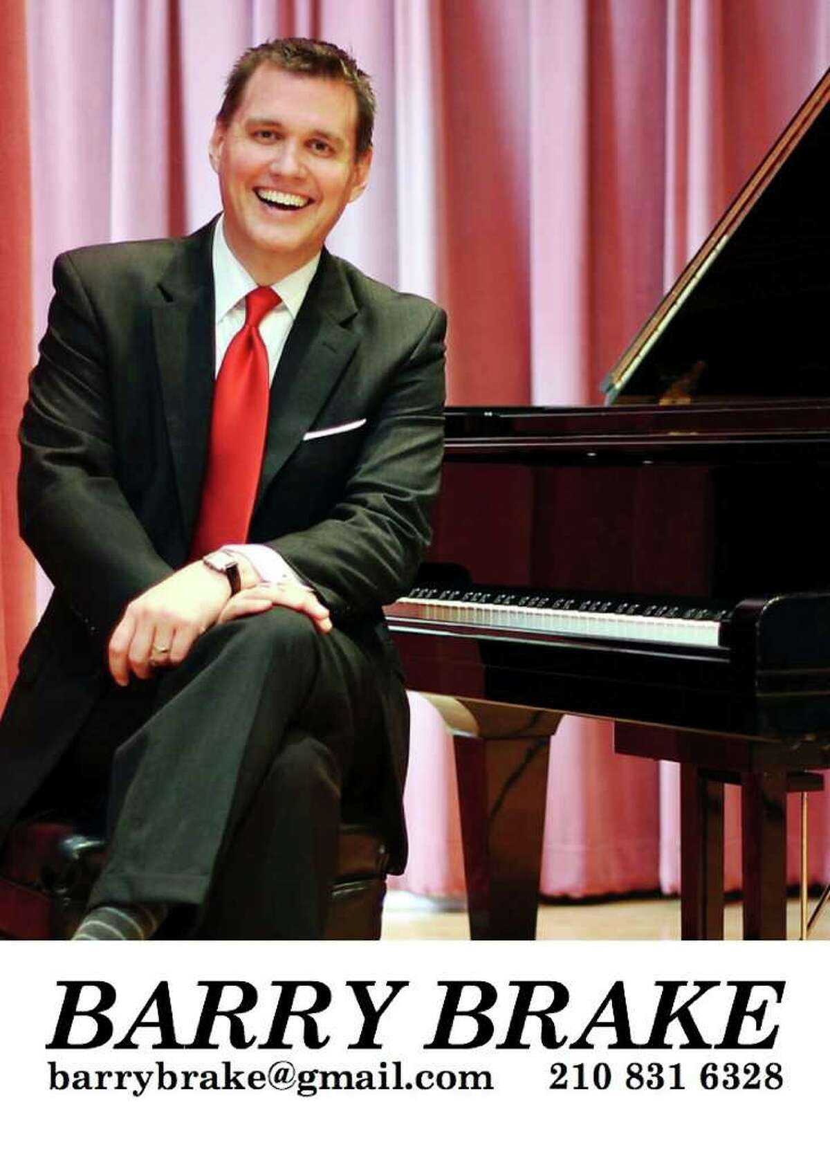 San Antonio jazz pianist Barry Brake will present songs from
