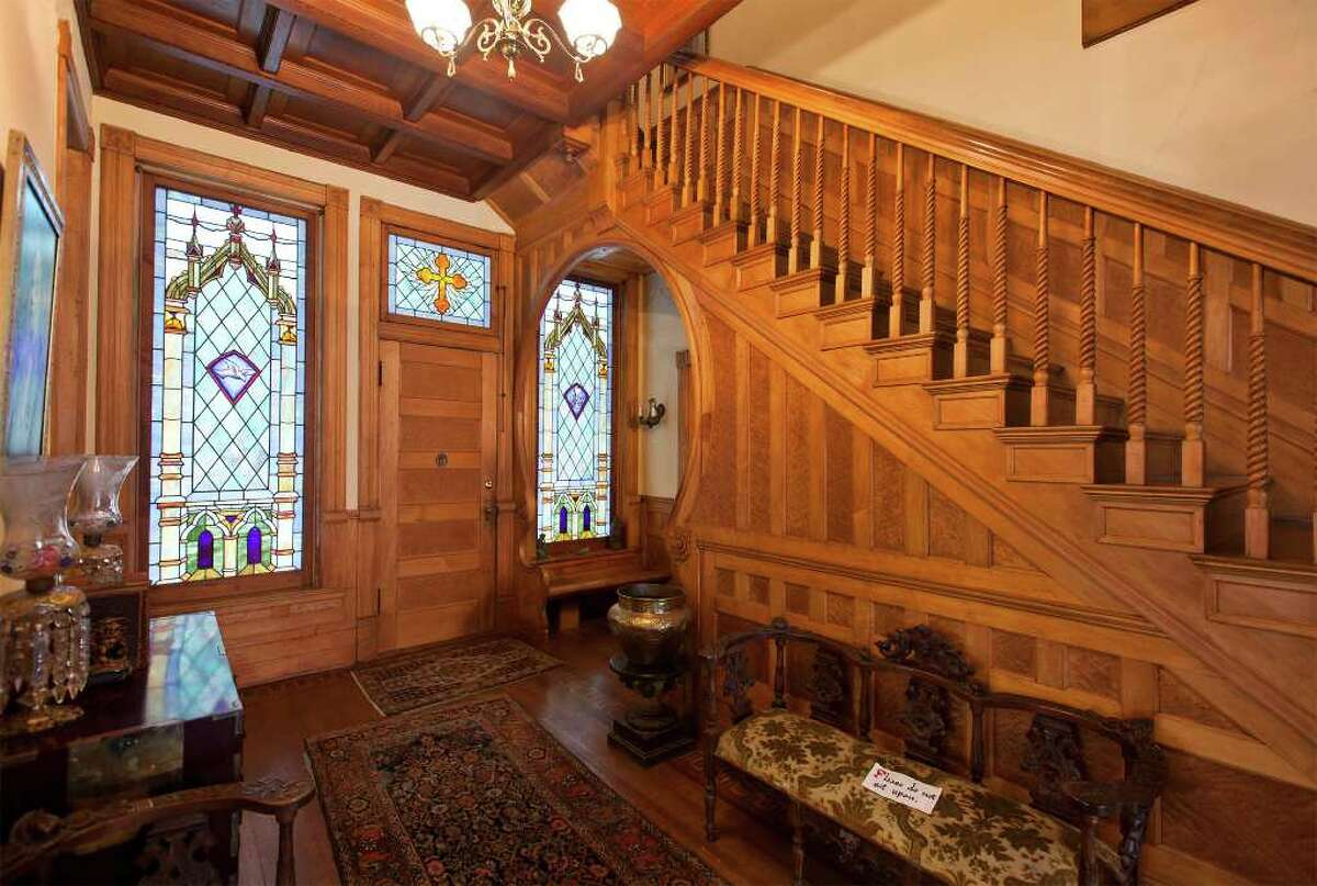 Interior photo of the Maverick-Carter House during the Helotes Historical Society's tour on Nov.14, 2011. The house was built in 1893 by architect Alfred Giles for William Maverick and purchased in approximately the early 1900's by Henry Champe Carter. Photo by Marvin Pfeiffer