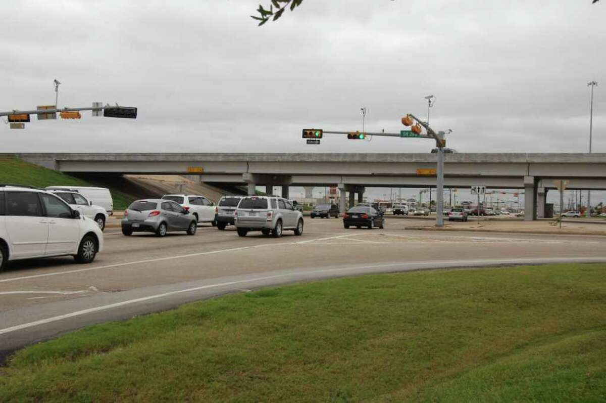 Traffic congestion at 518 and 288 in Pearland.