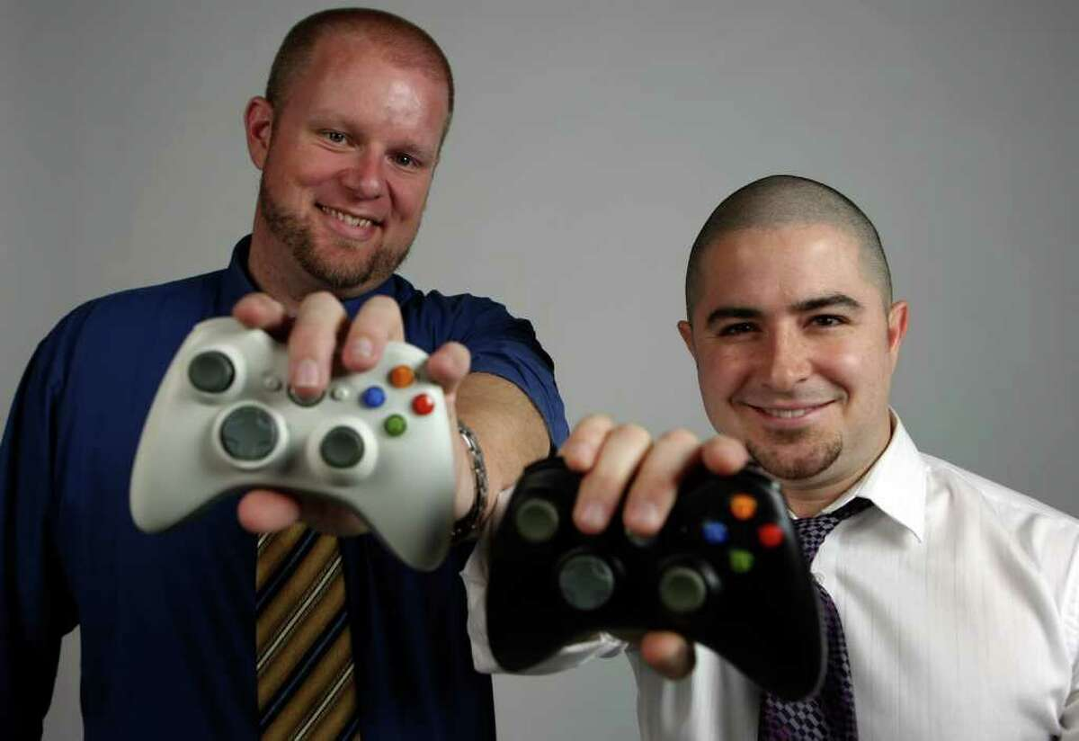 CONEXIO: Jeremy Koester and Christopher Hemmert are the founders of the World Gaming Championship. HELEN L. MONTOYA/hmontoya@conexionsa.com
