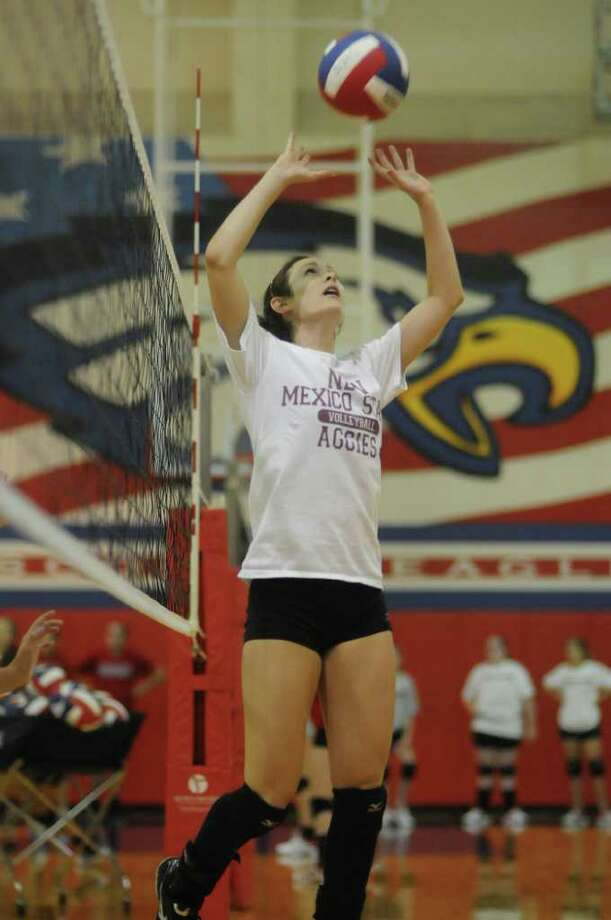 JERRY BAKER: FOR THE CHRONICLE COLLEGE BOUND: Atascocita senior Taylor Livoti is one of five players who will be lost to graduation for the Lady Eagles before the start of next season. Photo: Jerry Baker