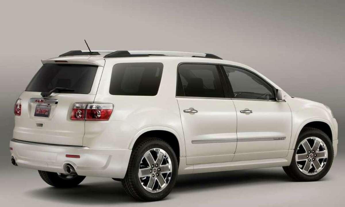 The Acadia Denali model can seat either seven or eight passengers, depending on its interior configuration. Prices for 2012 begin at $43,880, plus $810 freight. COURTESY OF GENERAL MOTORS CO.