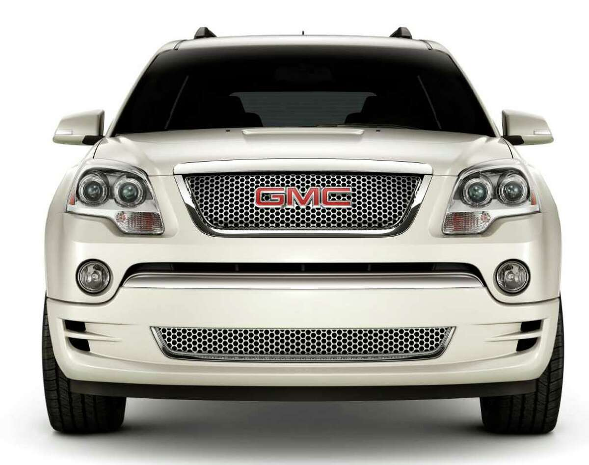 The Acadia Denali comes with the signature chrome honeycomb grille that GMC also uses on Denali models of the Yukon SUV and Sierra pickups. COURTESY OF GENERAL MOTORS CO.