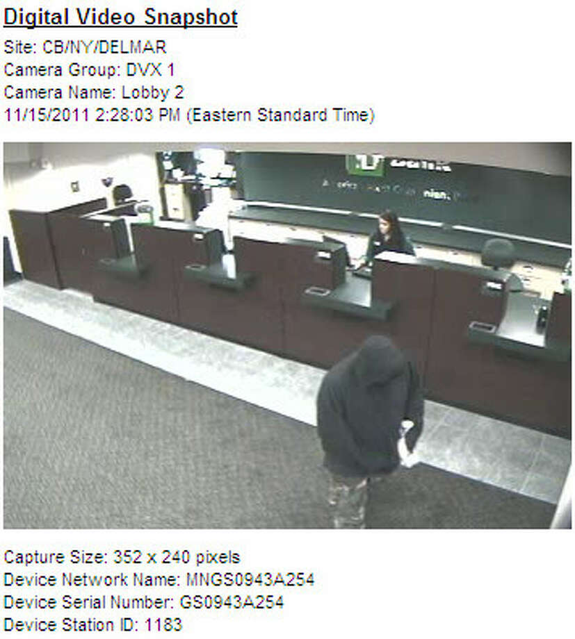 Bethlehem police provided this image from TD Bank in Delmar.