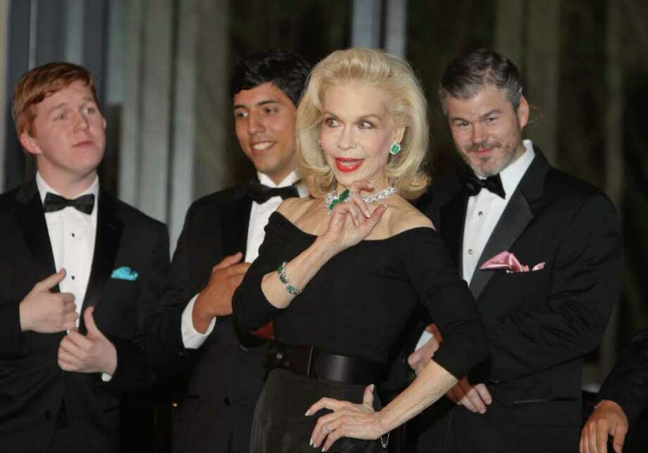 GARY FOUNTAIN  SPARKLING: Lynn Wyatt wowed the crowd by performing Diamonds Are a Girl's Best Friend at the Singing With the Houston Idols fundraiser for Houston Grand Opera. Photo: Gary Fountain / Copyright 2011 Gary Fountain