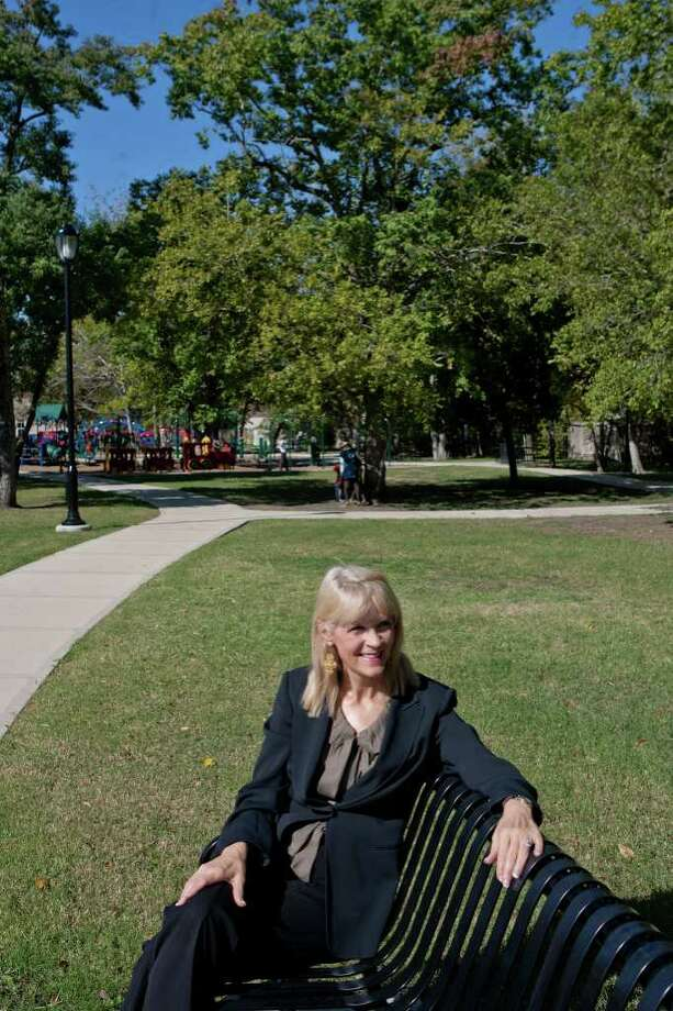 Bellaire Mayor Cindy Siegel is leaving office in January after 14 years as an elected official in Bellaire. The mayor is shown in Loftin Park, which became a reality during her tenure in office. Photo: R. Clayton McKee / © R. Clayton McKee