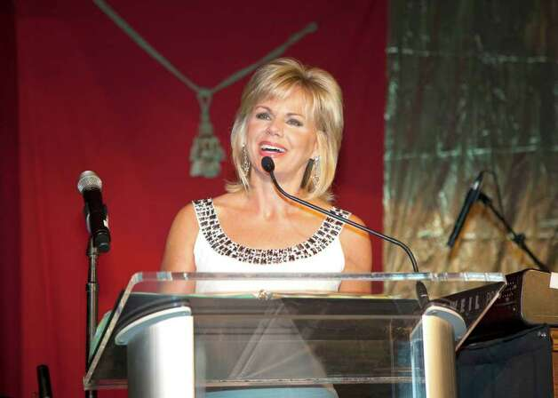 "Master of ceremonies for the evening was Greenwich resident Gretchen Carlson, co-anchor of the Fox News Channel show ""Fox & Friends."" Photo: Contributed Photo / Greenwich Citizen"