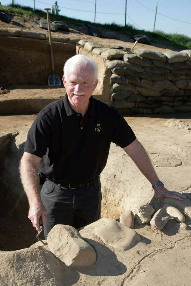 William Kelso led the team that discovered the long-buried James Fort at Jamestown, uncovering artifacts and human remains. Photo: David M Doody / © Colonial Williamsburg Foundation 2006