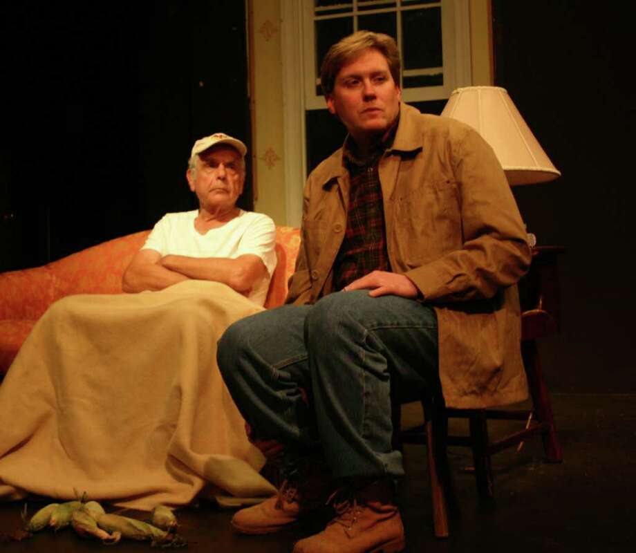 "Dodge, played by Martin Ripchick, keeps a close eye on his dim-witted son, Tilden, played by Gary Kline, in a scene from ""Buried Child."" Photo: Contributed Photo"