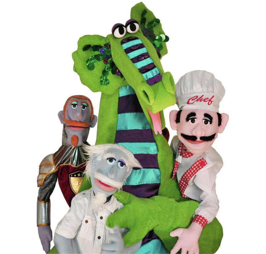 Some of the characters that appear in 'The Dragon and the Pepper' include Sir Forest Glenn Knight, Buzby the Dragon, Chef Tony Bolognese and Dr. Phineas. They, and others, will be taking to the stage at the Fairfield Theatre Company, 70 Sanford St., Fairfield, Sunday, Nov. 20, for two shows. For more information, visit http://fairfieldtheatre.org. Photo: Contributed Photo