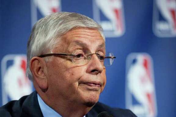 NBA commissioner David Stern speaks during a news conference Thursday, Nov. 10, 2011, in New York. The NBA and its players are hitting pause in their negotiations as the union considers the league's latest revised offer.The league offered a revised offer after nearly 11 hours of bargaining Thursday. It's based on the possibility of a 72-game season, starting Dec. 15. (AP Photo/John Minchillo)