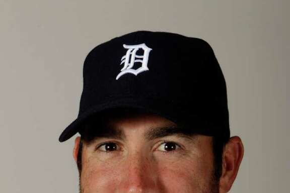 FILE - This Feb. 21, 2011 file photo shows Detroit Tigers pitcher Justin Verlander. Verlander won the AL Cy Young Award by a unanimous vote, Tuesday, Nov. 15, 2011.  (AP Photo/Charlie Neibergall, File)
