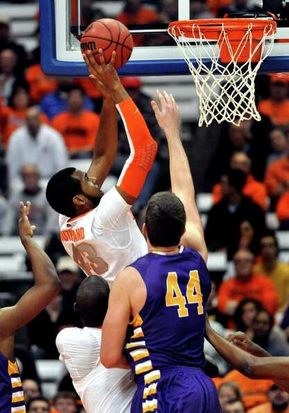 Syracuse's James Southerland scores against Albany during the first half of the NIT Season Tip-Off N