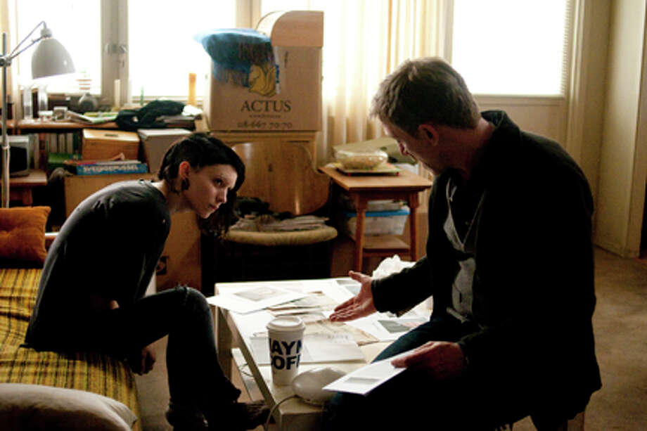 "Rooney Mara as Lisbeth Salander and Daniel Craig as Mikael Blomkvist in ""The Girl with the Dragon Tattoo."" Photo: Merrick Morton / © 2011 Columbia TriStar Marketing Group, Inc. All Rights Reserved."