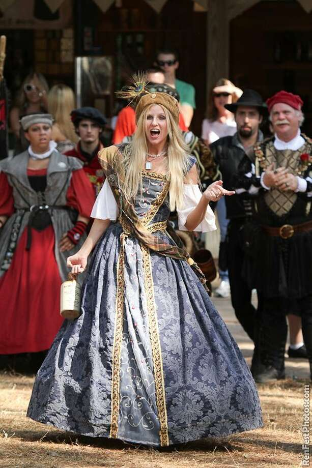 Jennifer Nuernberg performs at the Texas Renaissance festival as Queen Margaret aka Queen Peg, the drunkard.  Photo: Handout