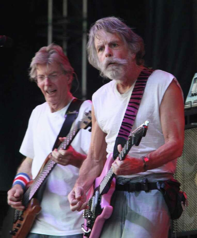 Phil Lesh (left) and Bob Weir of the band Furthur perform at the Cisco Ottawa Bluesfest on Wednesday, July 7, 2010.  The Ottawa Bluesfest is ranked as one of the most successful music events in North America. (The Canadian Press Images PHOTO/Ottawa Bluesfest/Patrick Doyle via AP Images) Photo: PATRICK DOYLE / The Canadian Press Images