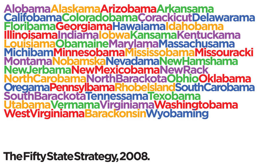 Obama poster by Michael Bierut (Courtesy College of Saint Rose)