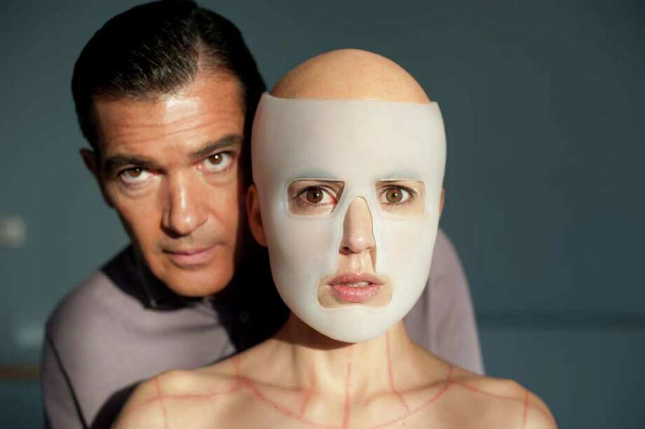 Antonio Banderas as Doctor Robert Ledgard and Elena Anaya as Vera Photo by Jose Haro/(c) El Deseo, Courtesy of Sony Pictures Classics / JOSE HARO