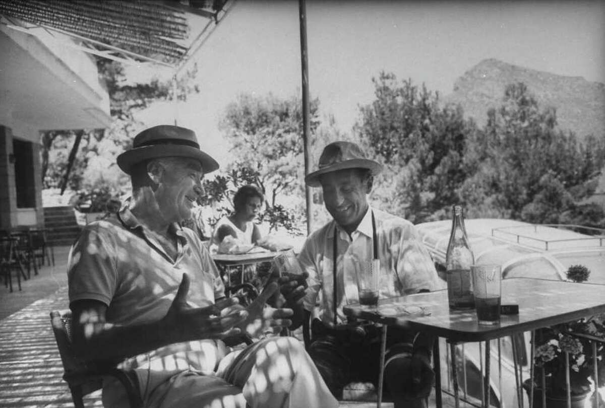 Life magazine founder Henry Luce, left, who lived with his family in Ridgefield, is shown here with photographer Alfred Eisenstaedt, vacationing on Majorca.