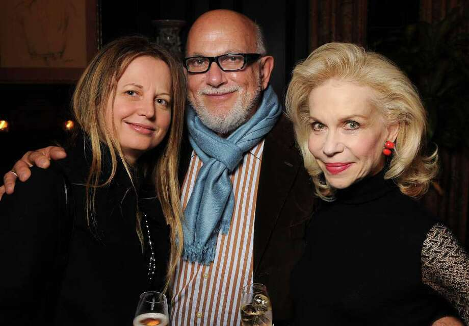 Slavka Glaser, from left, Carl Palazzolo and Lynn Wyatt at a party at Wyatt's home. Photo: Dave Rossman / © 2011 Dave Rossman