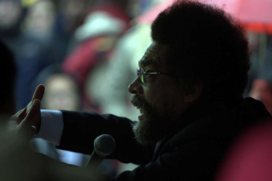 Civil rights activist and philosopher Cornel West speaks Wednesday, Nov. 16, 2011 at Seattle Central Community College to a crowd of Occupy Seattle protesters. Photo: By LEVI PULKKINEN, SEATTLEPI.COM STAFF