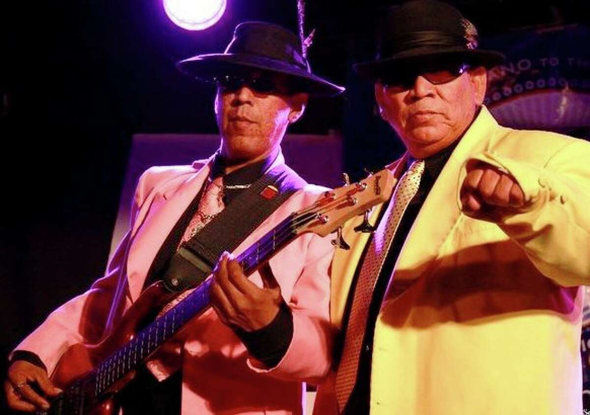 Joey (left) and Joe Garcia, of Los Garcia Brothers: They retain the look and musical attitude of pachucos. They'll perform at Graham Central Station on Friday.