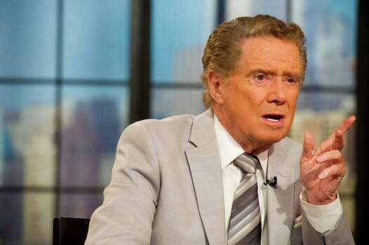 "Regis Philbin appears on set during the taping of ""Live! with Regis and Kelly"", in New York, Friday, Oct. 28, 2011. (AP Photo/Charles Sykes) Photo: Charles Sykes / FR170266 AP"