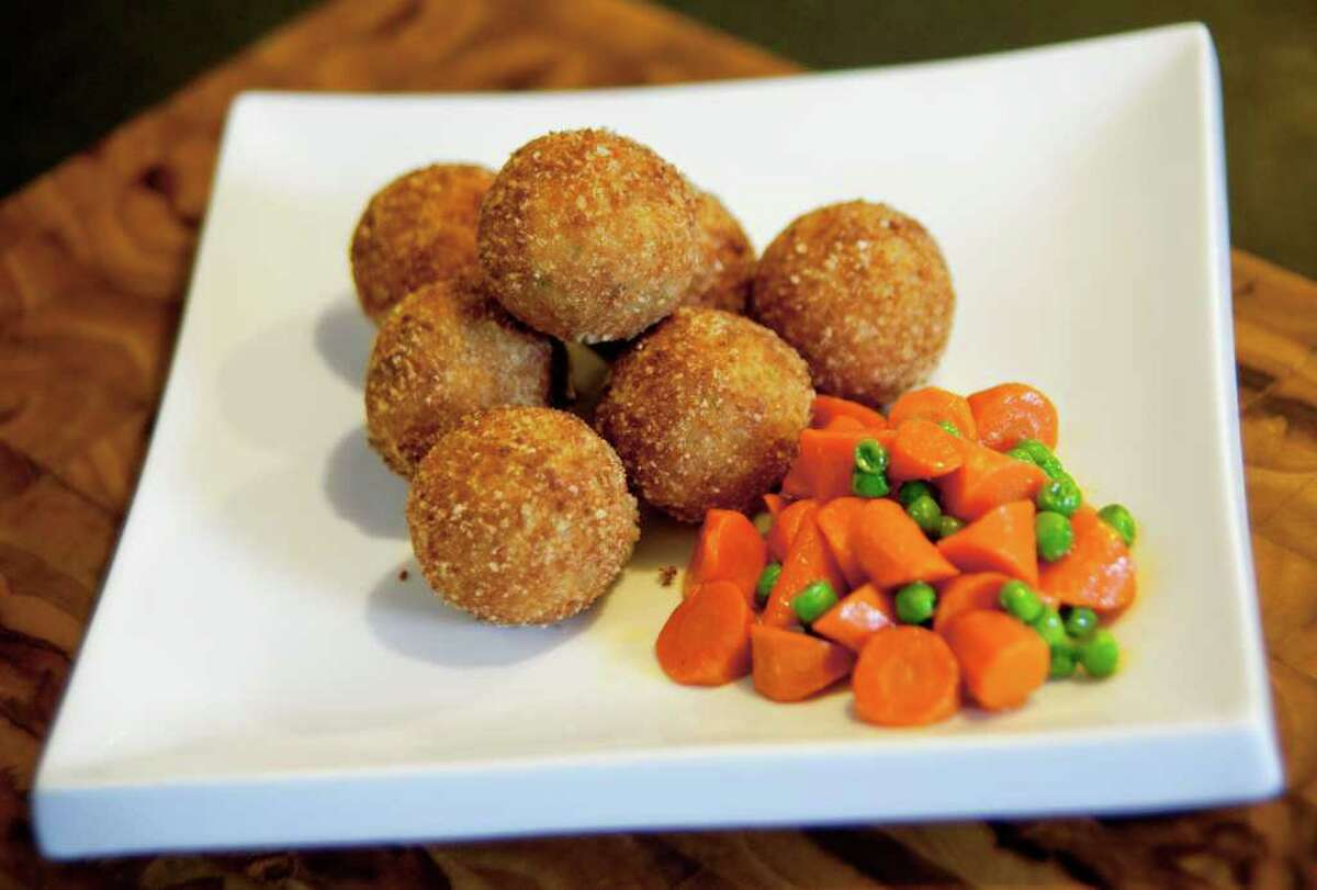 Turkey and Mashed Potato Croquettes turns two Thanksgiving day leftovers into an appetizer or main dish.