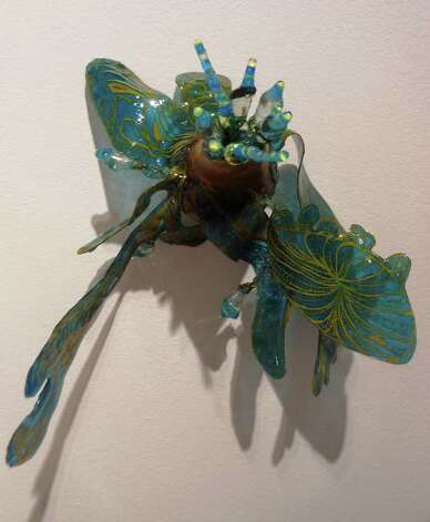 """Pinned Tungs"" is a mixed media work in Margaret Craig's exhibition ""Malleable Objects"" at REM Gallery. Photo: Steve Bennett, Sbennett@express-news.net"