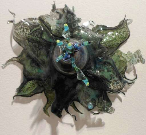 """Flowering Splout"" is a mixed media work in Margaret Craig's exhibition ""Malleable Objects"" at REM Gallery. Photo: Steve Bennett, Sbennett@express-news.net"